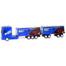 autotransporter monstertrucks jongens 1:30 blauw 8-delig