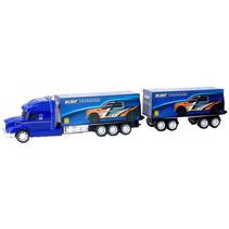 autotransporter Mega Truck jongens 1:30 blauw 8-delig