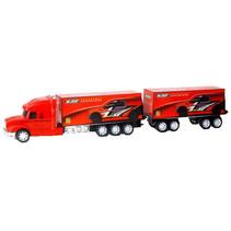 autotransporter Mega Truck jongens 1:30 rood 8-delig