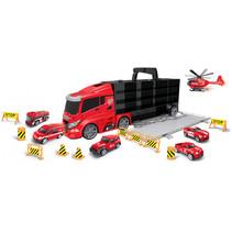 autotransporter Rescue 55 cm zwart/rood 16-delig