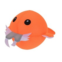 Opblaasbare splashbal zeedier oranje 15 cm