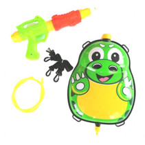waterpistool met tank 35,5 cm groen/geel 5-delig