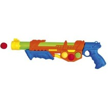 Waterpistool incl. 6 softballen oranje 46 cm