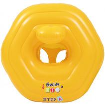 floater met zitje junior 73 x 70 cm PVC geel