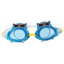 zwembril nijlpaard junior 16,5 cm blauw one-size