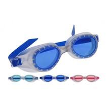 zwembrillen 3 stuks blauw/roze