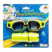 zwembril met brillenkoker geel one-size