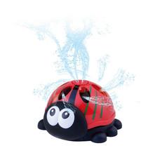 watersproeier lieveheersbeestje 16 cm rood/zwart