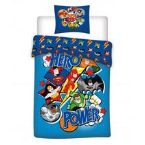 dekbedovertrek Super Friends 140 x 200 cm blauw