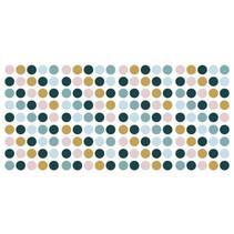 muursticker Dots junior vinyl roze/geel 180-delig