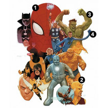 muursticker Avengers Classic jongens 53 x 76 cm vinyl