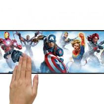 wanddecoratie randsticker Avengers 4,5 m blauw