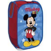 opbergmand Mickey Mouse 58 cm textiel blauw/rood