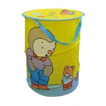 T'Choupi wasmand pop-up geel 38 x 50 cm