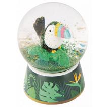 glitterbal Toekan junior 6,5 x 4 cm glas donkergroen