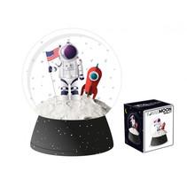 schudbol Ruimtevaart jongens 16 x 14,5 cm ABS zwart/wit