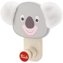 kapstok Koala junior 17 cm hout naturel/grijs
