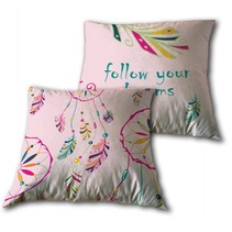 dromenvangerkussen 35 x 35 cm roze