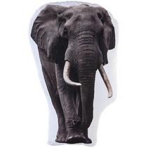 kussen olifant wit/grijs 62 cm