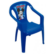 stoel Mickey Mouse 36,5 x 51 cm polypropyleen blauw