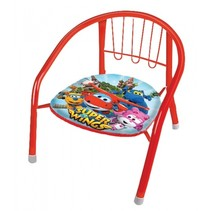 metalen stoel 36 x 35 x 36 cm rood/multicolor