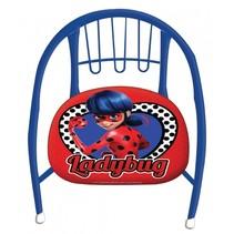 metalen stoel Miraculous Ladybug 36 x 35 x 36 cm rood