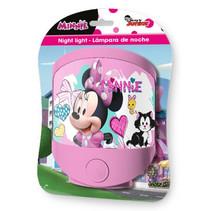 nachtlamp Minnie Mouse led meisjes 13,5 x 15 cm roze