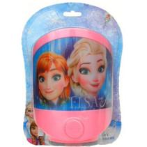 nachtlamp Frozen led meisjes 13,5 x 15 cm roze/blauw