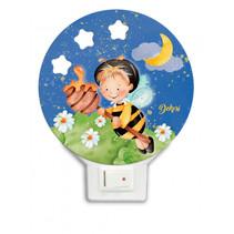 nachtlamp bij led junior 12 x 4 cm hout