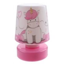 nachtlamp Pusher Space meisjes 11 cm wit/roze