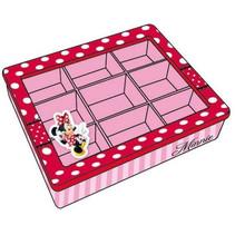 sieradendoosje Minnie Mouse meisjes hout roze/rood