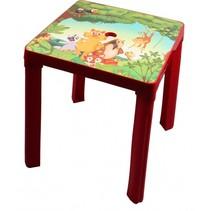 kindertafel Jungle 46 cm rood