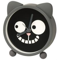 wekker Ed the Cat junior 10 x 3,7 cm rubber grijs/zwart