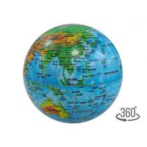 wereldbol led 14 cm PVC blauw