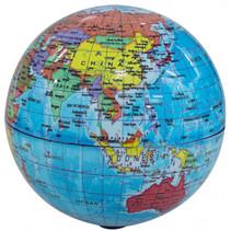 wereldbol Political led 14 cm PVC blauw