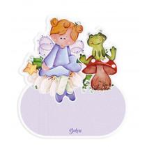 naambord fee meisjes 12 x 17 cm hout paars