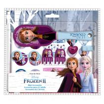 haaraccessoires set Frozen II paars/blauw