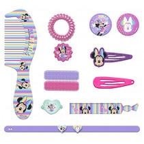 haar- en armbandset Minnie Mouse pastel paars 11-delig