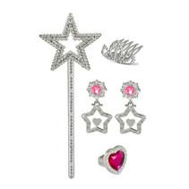 prinsessenset zilver/roze 4-delig