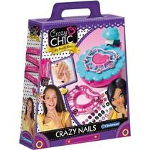 nagelstudio Crazy Chic blauw/roze 5-delig