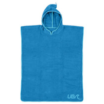 badponcho junior 80 x 70 cm katoen blauw