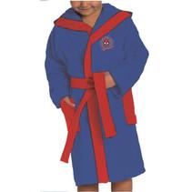 badjas Spiderman jongens katoen blauw/rood