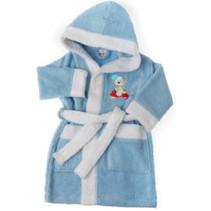 badjas junior katoen lichtblauw