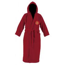 badjas junior katoen rood