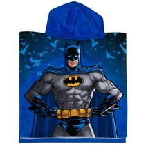 badponcho Batman blauw junior 50 x 100 cm