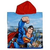 badponcho Superman blauw/rood junior 50 x 100 cm
