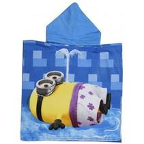 badponcho Summer Minions blauw junior 50 x 100 cm