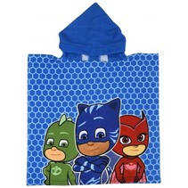badponcho PJ Masks 50 x 100 cm blauw