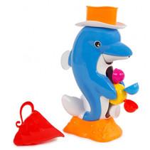 waterspuit dolfijn junior 28 cm blauw