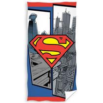 strandlaken Superman junior 140 x 70 cm katoen rood